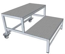 Алюминиевая монтажная подставка ПА-600 2 ступени