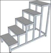 Алюминиевая монтажная подставка Н=1200 5 ступеней