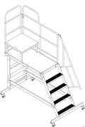 Монтажная платформа передвижная Н=1600 4 ступени