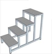 Алюминиевая монтажная подставка Н=1000 4 ступени