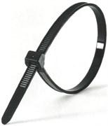 Кабельная нейлоновая стяжка Передовик черная, 4,8х380 100шт 32214