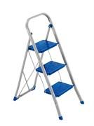 Стальная стремянка Framar Slimmy, 3 широкие ступени, цвет синий