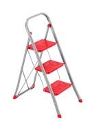 Стальная стремянка Framar Slimmy, 3 широкие ступени, цвет красный