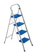 Стальная стремянка Framar Slimmy, 4 широкие ступени, цвет синий