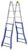 Телескопическая шарнирная лестница Colombo Pratic 4+4 AC+AL 2x16