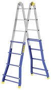 Телескопическая шарнирная лестница Colombo Pratic 5+5 AC+AL 2x20