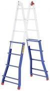 Телескопическая шарнирная лестница Colombo Pratic 4+4 AL 2x16