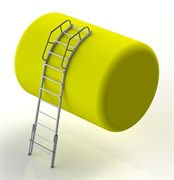 Алюминиевая лестница для цистерн 16 ступеней ЛАЦ-4,0