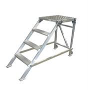 Алюминиевый трап 3 ступени 051602