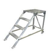 Алюминиевый трап 3 ступени 051603