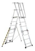 Телескопическая лестница-платформа Zarges, 12 ступеней 41328