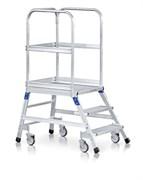 Передвижная лестница с платформой Zarges Z600 односторонняя, 6 ступеней 41954